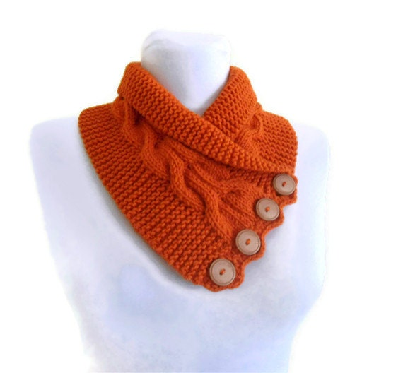 Tangelo neckwarmers, autumn, wool, hand-knitted,fashion,gift,