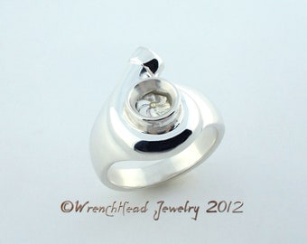 Sterling Silver Turbocharger Ring