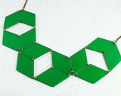 Geometric reversible collar necklace