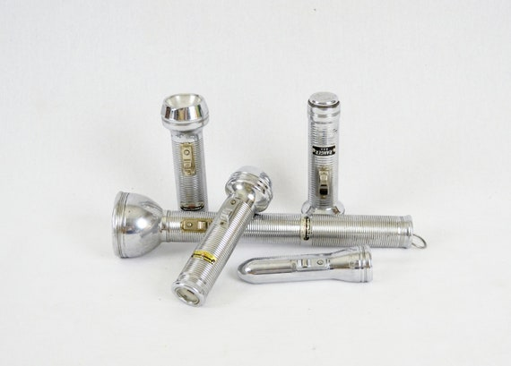 Vintage Industrial Chrome Flashlights - Instant Collection