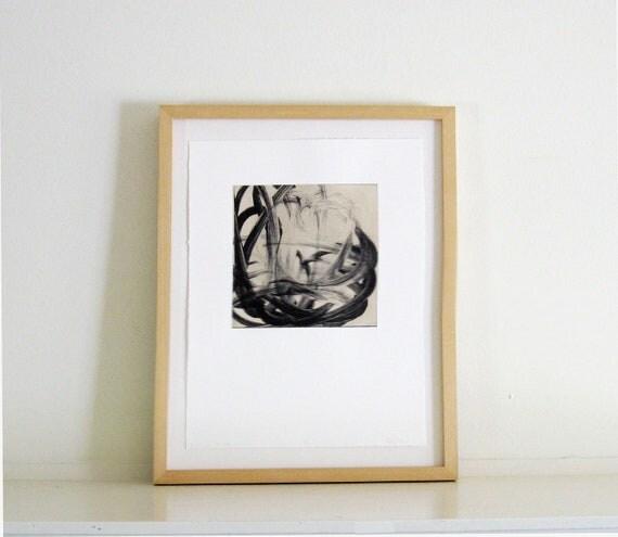 Sale, Intaglio Print / Expressive Art: Ripple Effect 4 (in Black)