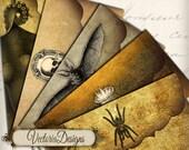 Halloween Envelopes instant download printable digital collage sheet 171
