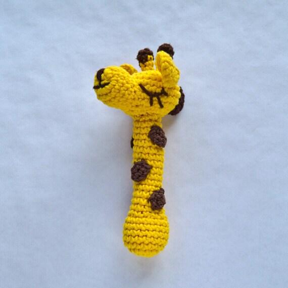 Free Crochet Pattern Baby Rattle : Items similar to Giraffe Rattle - PDF Crochet Pattern ...