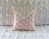 LOVE NOTE vintage chenille pillow cover and custom insert by morechenillechateau