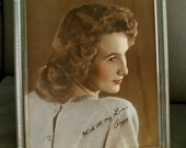 With All My Love, Peggy  Hand Tinted Photograph 1940's