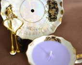 Vintage China Candle Jewelry Stand Kit Lefton Black and Gold FREE Shipping