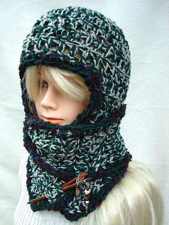 Instant Download PDF Crochet Pattern Schoodie Hat with