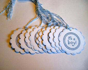 It's A Boy Tags - Set of 50 - Thank you on back