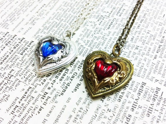 RESERVED for AkuaSeaWolf Amoret Heart Locket