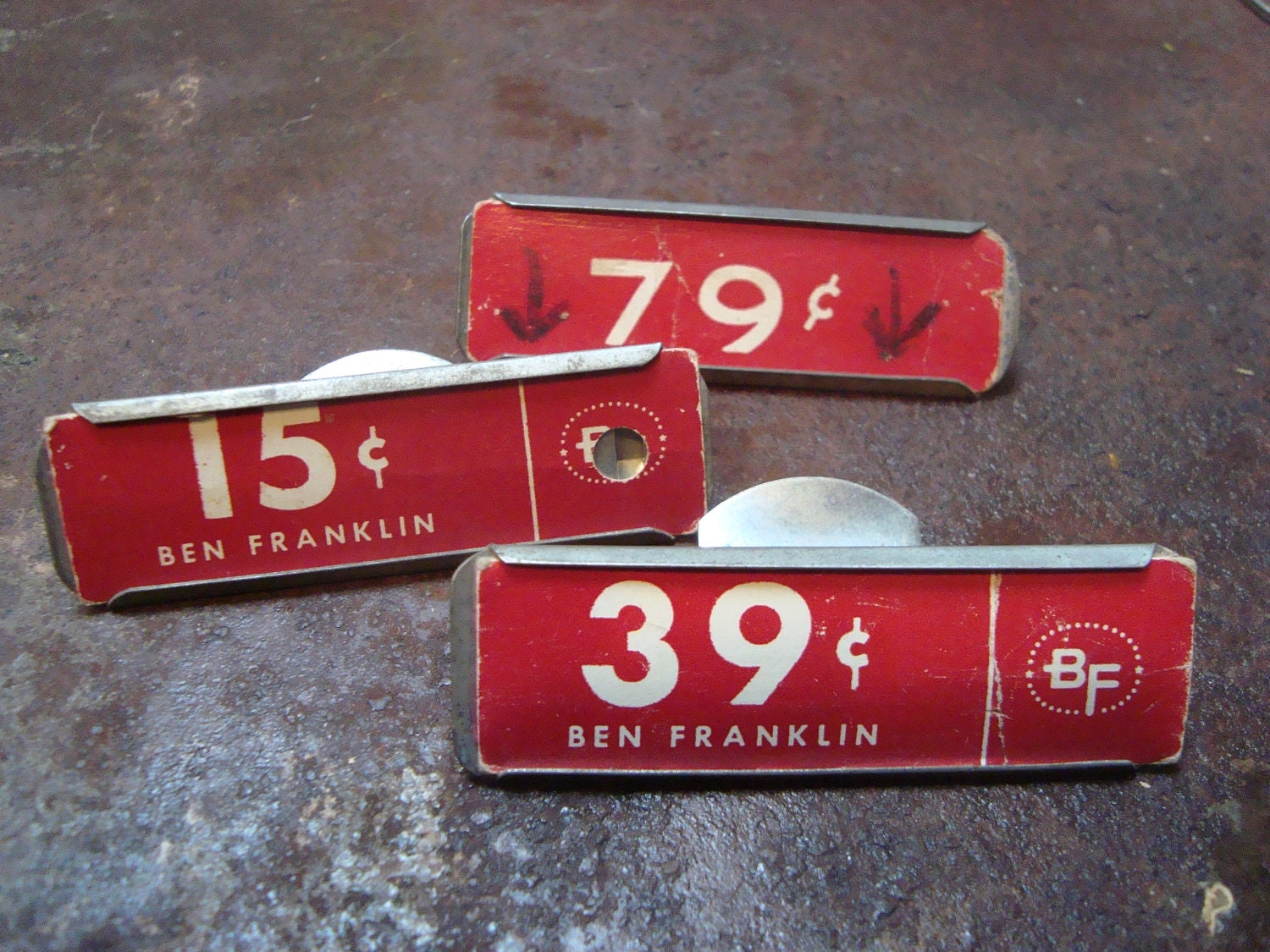 Vintage Metal Sign Price Tag Holders