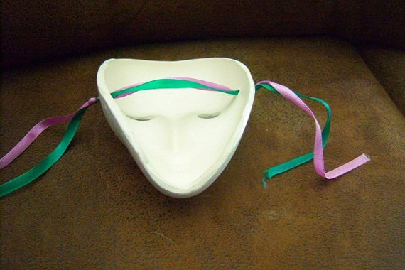 RESERVED JULIA-mardi gras ceramic facial mask new orleans -piano