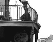 New Orleans....Photograph...Balcony....Black and White.....French Quarter....Mardi Gras