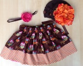 "SAMPLE SALE 25% OFF "" Hoos The Cutest "" Skirt --  Only 18.00 -- Size 2-4t"