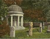 Gazebo and Graveyard Hermitage Home of Andrew Jackson Nashville Tennessee Vintage Postcard