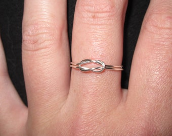 Wire Wrapped Square Knot MADE to ORDER Ring