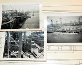 WWII Shipyard Workers Lot of Original Photographs - Rare Historical Pictures
