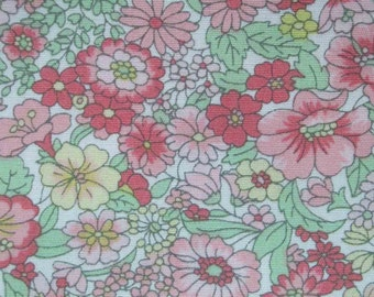 SALE - Garden in spring, fat quarter, pure cotton fabric
