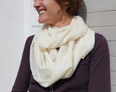 Ivory Silkly Cowl Scarf
