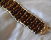 Gold and Brown Woven Bracelet