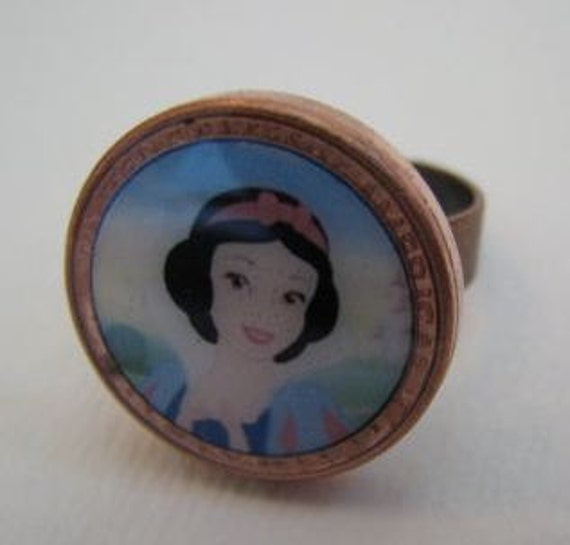 Lucky Penny Ring Snow White inspired Ready to Ship