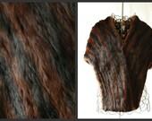 reserved for DA Perez. vintage mahogany striped marmot fur wrap