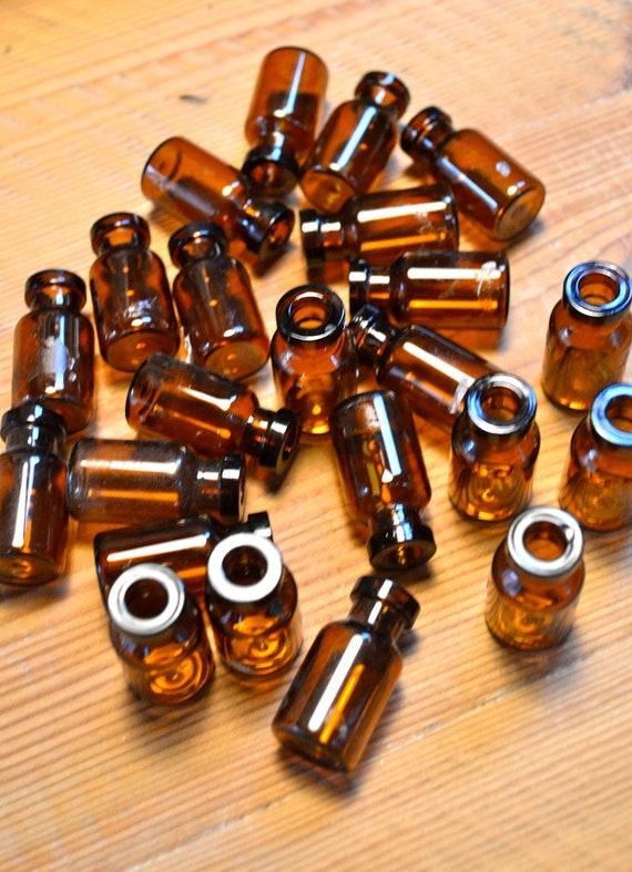 Mini Amber Bottles