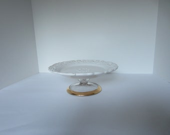 UPCYCLED white  Italian SERVING PLATE
