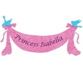 Personalized Princess Name Banner or Once upon a time Banner for Girl's Room or Princess Cinderella Party