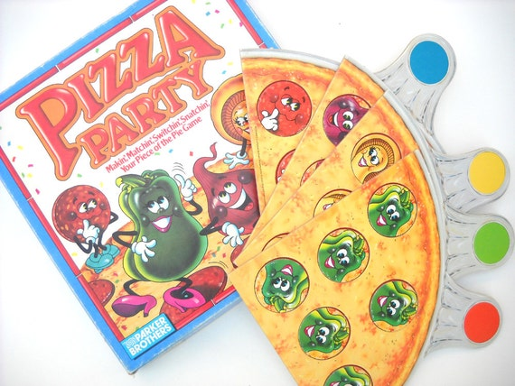 1980s Pizza Party Game: Complete Board Game