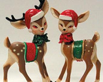 Fancy Reindeer Cake Bakery Novelties 1 Pair