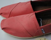 Custom Hand Painted TOMS in Coral