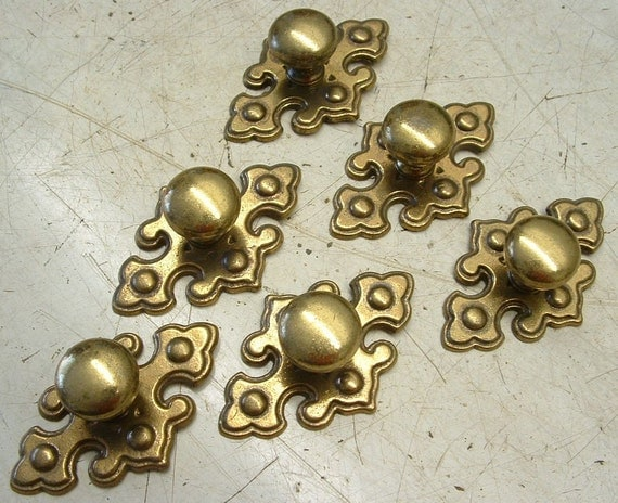 12 Pieces Vintage Drawer Cabinet Furniture Pull Knobs and Backplates