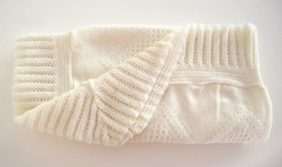 1950's Cream Receiving Blanket