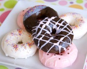 Donut Soap - Strawberry and Chocolate Donuts Goat Milk Soap