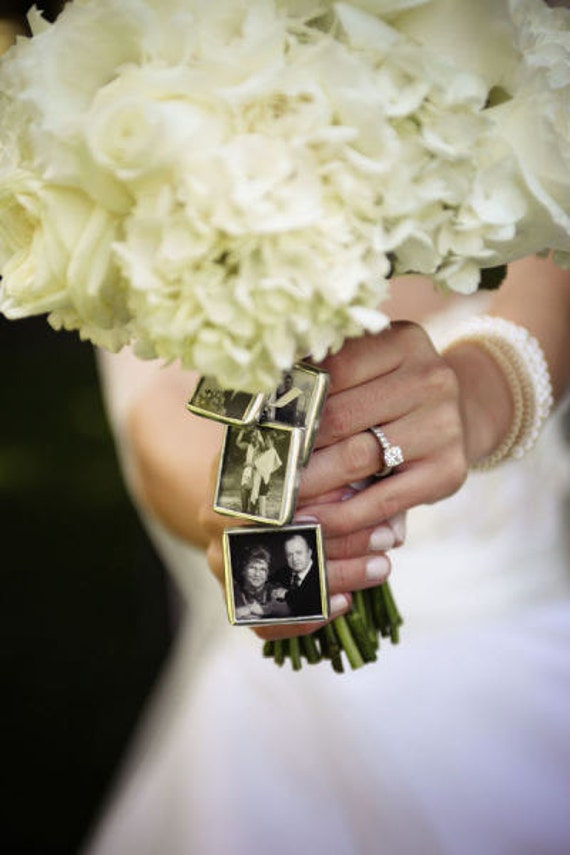 kits to make your own wedding bouquet charms photo pendants charms