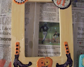 Happy Halloween-- Decorative Picture Frame-- CLEARANCE Price