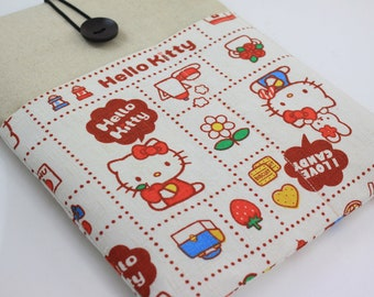 "Laptop Case, 13"" MacBook Case, 13"" MacBook Air Case, 13"" MacBook Pro Case, PADDED, with 2 pockets - Hello Kitty"