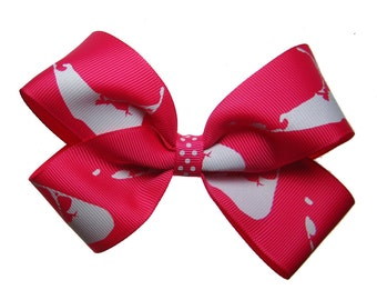 Large Hot Pink Nantucket Hair Bow