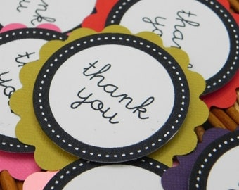 Thank You Tags in Most Any Color - Qty 50