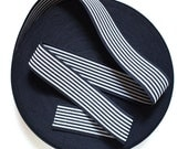 "2"" Reversible Black & White Stripes Stretch Elastic Band"