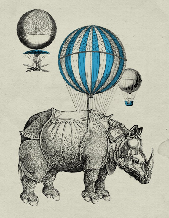 Vintage Hot Air Balloon Prints images