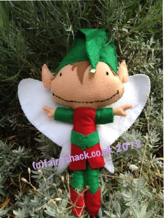 Conker the Christmas Fairy - a Fairy Shack Felt Fairy