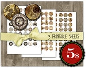 Henna drawing ,Mehndi, Zen Yoga , om,  1 inch circles - SPECIAL OFFER  - set 3  Digital Collage Sheets, Download for Resin Pendant