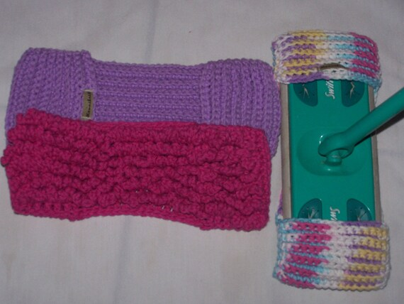 3 pack Seamless Crochet Swiffer Mop Cover- Spring READY TO SHIP