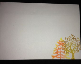 Autumn/ Fall trees letter writing set