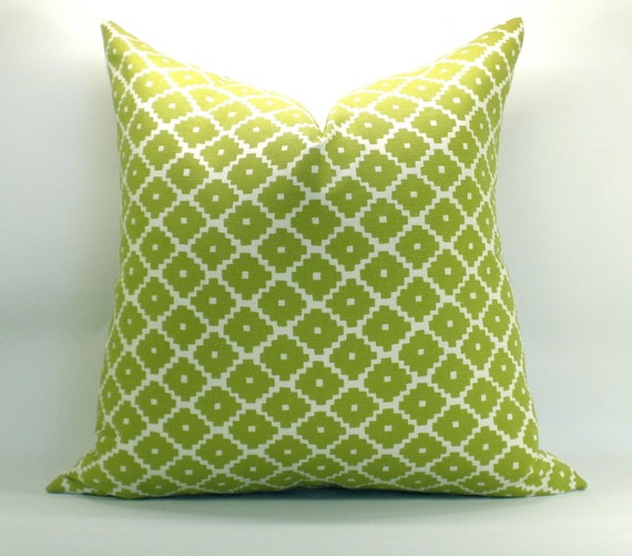 Ziggurat pillow cover in Chartreuse - 20 x 20