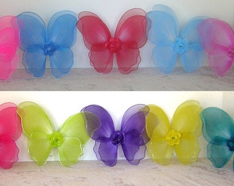 "Airbrushed Fairy Wings for American Girl 18"" Dolls and Bitty Baby"