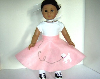 "Ten Poodle Skirts for American Girl Doll Party or other 18"" Dolls"
