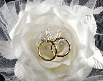 Millinery Rose Ring Pillow