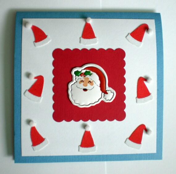 Christmas Card - Santa Hats